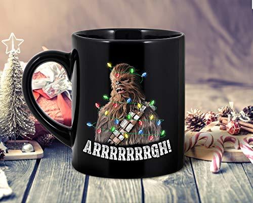DKISEE Chewbacca Arrrgh - Taza de café navideña, regalo para hombres y mujeres