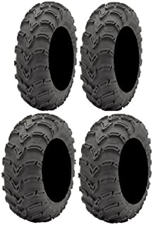 Full Set of ITP Mud Lite (6ply) 25x8-12 and 25x10-11 ATV Tires (2)