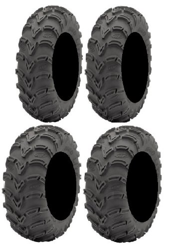 Full Set of ITP Mud Lite (6ply) 25x8-12 and 25x10-11 ATV Tires (4)