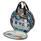 Color You Embroidery Bag, Portable Embroidery Project Bag Storage, Craft Supply Organizers and Storage for Embroidery Hoops, Floss, Cross Stitch Supplies and Sewing Tools Kits