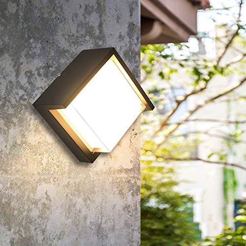 IMEFF Applique Murale à LED, Applique Murale étanche en Aluminium Créatif De Première Qualité pour Terrasse Et Jardin Villa Terrasse,Square