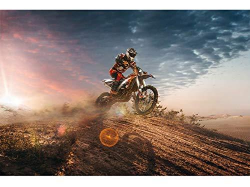 Oedim Fototapete Wand Kindisch Motocross| Verschiedene Maße 200 x 150 cm | Dekor Esszimmer, Wohnzimmer, Zimmer