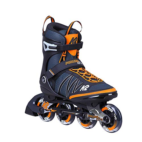 K2 Skates Herren Inline Skate Power 84 — blue - orange — EU: 44 (UK: 9.5 / US: 10.5) — 30C0380