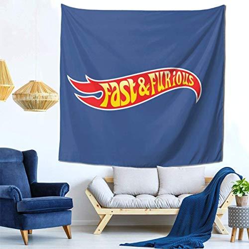 XCNGG FA-St & Furi-Ous - Hot WH-Eels (Logotipo) Tapiz Decorativo Sofá Familiar El Dormitorio se Puede Colocar como una Colcha 59 59 Pulgadas