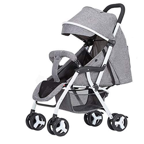 Sillas de paseo Cochecito de bebé portátil ultra ligero paraguas plegable bebé niño simple recién nacido cochecito niño paraguas de nuevo ángulo ajustable material de acero al carbono 4 color