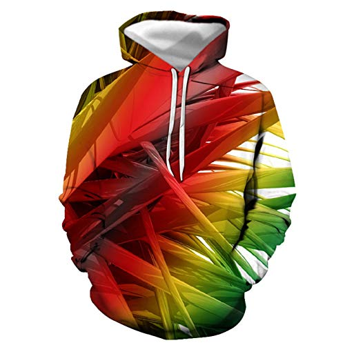 SLYZ Herren Herbst Und Winter Neue 3D-Digitaldruck Lose Hoodie Sweater Mantel...