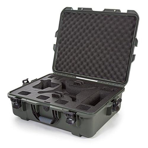 Nanuk DJI Drone - Custodia rigida impermeabile con inserto in schiuma personalizzata per DJI Phantom 4/Phantom 4 Pro (Pro+), Advanced (Advanced+) e Phantom 3-945-DJI46 Olive