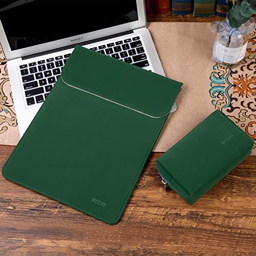 HYZUO 13 Zoll Laptop Hülle Tasche Laptophülle Compatibel mit MacBook Air 13 M1 2018-2020/ MacBook Pro 13 M1 2016-2020/ iPad Pro 12,9 2020 2018/ Dell XPS 13/ Surface Pro X 7 6 5 4, Mitternacht grün