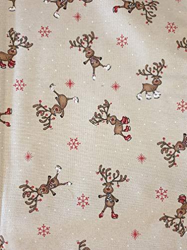 Sprügel Weihnachten Tischläufer Dancing Reindeer - Tanzende Renntiere - 50 x 150 cm 50% Baumwolle, 50% Polyester