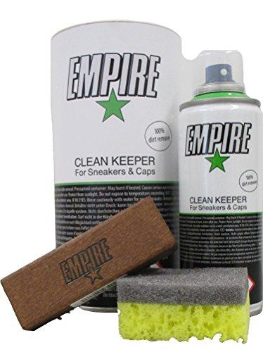 Nanogate EMPIRE Clean Keeper Set mit Bürste Schwamm - für Sneaker und Caps