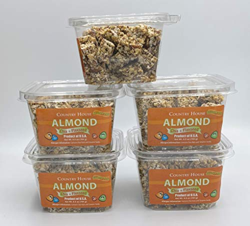 Country House ALMOND CRUNCH PACK (5 Counts) with Chia and Flaxseed, All Natural, Easy to Read Ingredients, No Artificial or Natural Flavors Added, No Gluten, Low Sodium, and a Crisp in Every Bite!