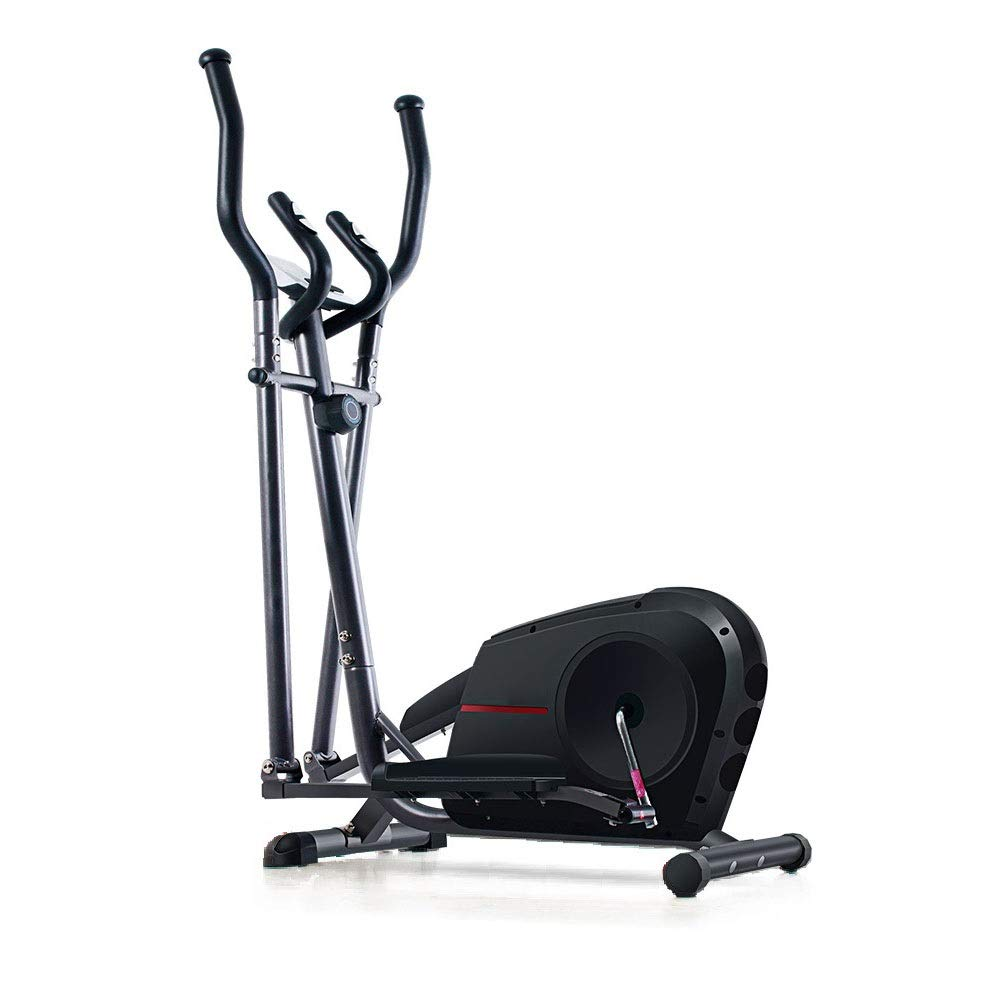 Entrenador de la Cruz Elíptica de la bicicleta estática-Fitness Cardio Pérdida de peso de la máquina-Con entrenamiento asiento for entrenamiento Home Fitness entrenamiento cardiovascular Negro Inicio: Amazon.es: Hogar