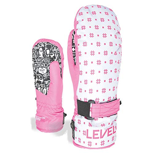 Level Junior Guantes, Niñas, mitt Hot Pink, III