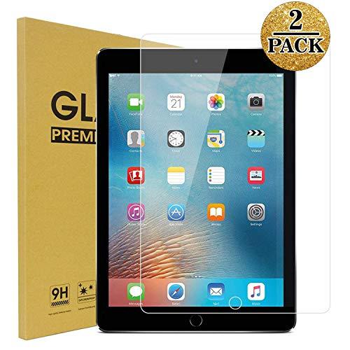 TopEsct Tempered Glass Screen Protector [2 Pack] for iPad Air,iPad Air 2,iPad Pro 9.7,iPad 5th Generation,iPad 6th Generation, Anti-Fingerprint, Anti-Scrat (iPad 9.7)