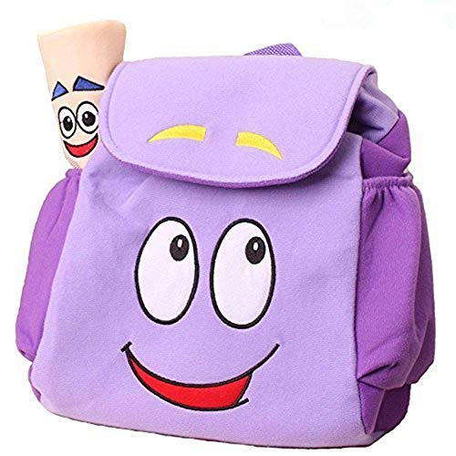 Dora Explorer Backpack Rescue Bag with Map,Dora Backpack  Pre-Kindergarten Toys Purple