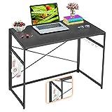 "Mr IRONSTONE 31.5"" Folding Computer Desk Carbon Fiber Tabletop, Small Writing Desk Easy Assembly..."