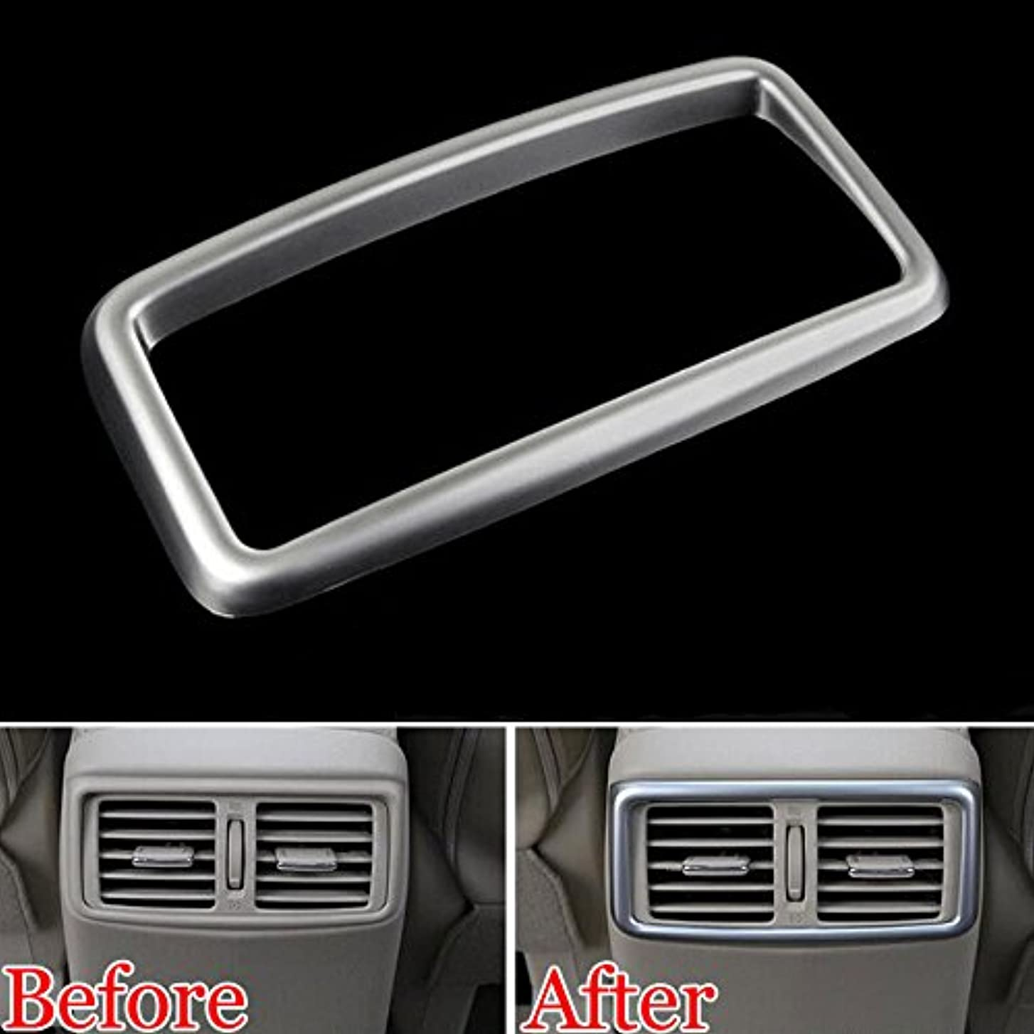 穀物受け入れる恐ろしいですJicorzo - Car Armrest Rear Air Condition Vent Outlet Cover Trim Car Styling Molding For Nissan Rogue X-Trail 2014-2017 Nissan Qashqai J11