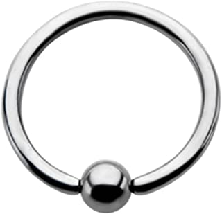 18 Gauge One Side Fixed Ball Ring Annealed 316L Surgical Steel (Sold Individually)