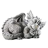 WJBABJ Dragón bebé Estatua Adorable Dormir Retrato de Piedra Resina al Aire Libre Escultura Resina casero Jardines al Aire Libre decoración (Color : B)
