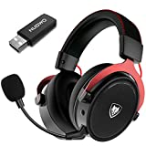 NUBWO G07 Wireless Gaming Headset for PC, PS4, PS5,Gaming Headphones with Fixed Mic, 2.4GHz Ultra-Low Latency,Noise Cancelling MIC, Soft Memory Earmuffs,Wired Mode for Xbox One, Xbox Series X Games