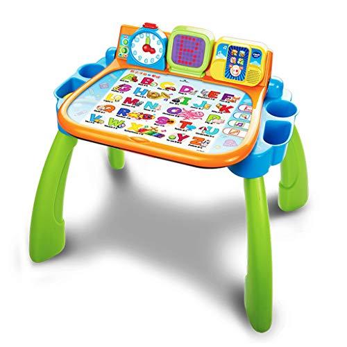 Jouets musicaux Multi-Function Touch Desk Bébé Table De Lecture Bilingue pour Enfants Jeu Jouet Table Puzzle Early Education Jouets 3-6 Ans Apprendre Table Jouet Donner Donner Jouet