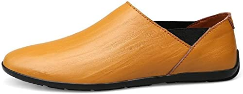 Hhor Chaussures Mocassins pour Hommes, Mocassins à Enfiler de minimalisme minimalisme pour Hommes Mocassins de Conduite de Mode en Cuir PU (Couleuré   comme montré, Taille   Taille Unique)  magasins d'usine
