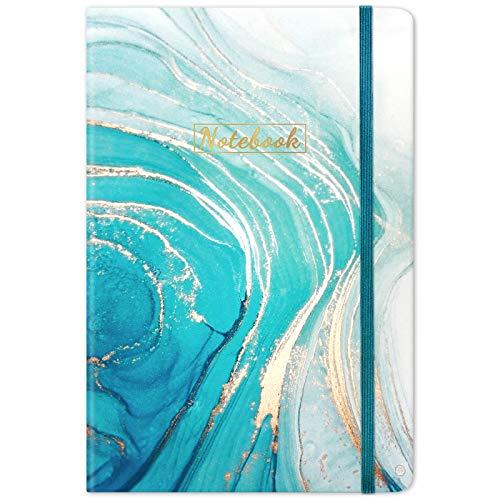 Liniertes Notizbuch/Tagebuch – liniertes Tagebuch, 21 x 14 cm, Hardcover, Lesezeichen, dicke Rückentasche, flach auflegen, 360° zum einfachen Schreiben mit Premium-Papier, liniertes Tagebuch, perfekt für Schule, Büro und Zuhause