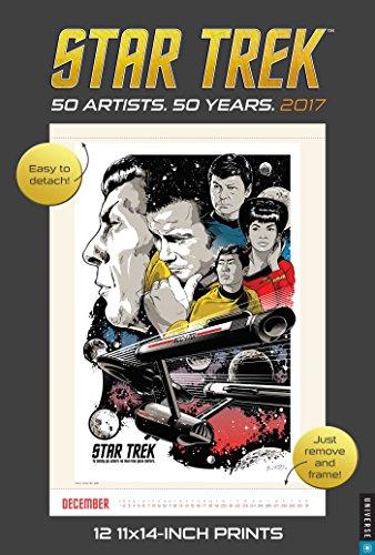Star Trek 2017 Poster Calendar: 50 Artists. 50 Years.