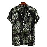 Hawaii-Hemdoberteil mit Print für Herren Frühjahr/Sommer Hawaiihemd Herren Kurzarm Fronttasche...