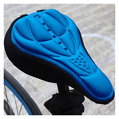 Funda Sillin Bicicleta Gel 3 unids 3D Bicicleta Silla de Montar Asiento Nuevo Suave Bicicleta Cubierta Asiento cómodo Espuma Asiento cojín Ciclismo sillín para Bicicleta Accesorios de Bicicleta Cubre