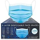 Disposable Face Masks, 100 Pac Face Mask Disposable Mask-Blue