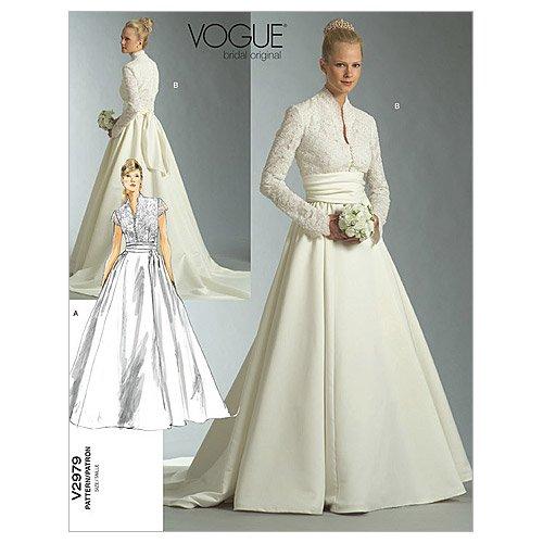 Vogue 2979 - Patrón de costura para confeccionar traje de novia