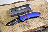 Wartech PWT267 Thumb Open Spring Assisted Shark Shape Pocket Knives (PWT267BL)