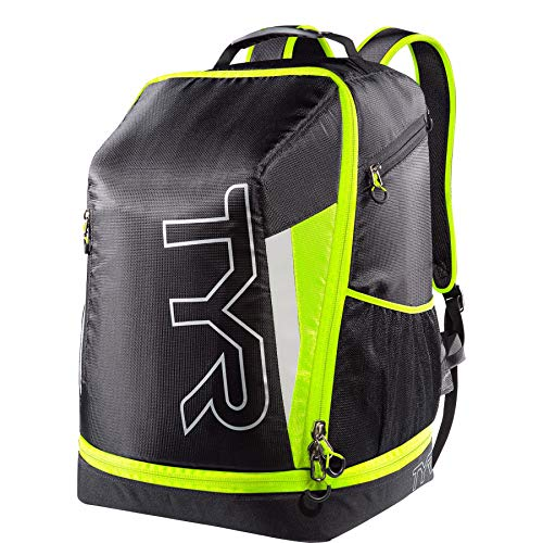 TYR Apex Transition Bag, Black/Full Yellow, Medium