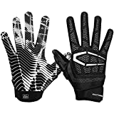 Cutters Gamer Padded Football Glove for Lineman and All-Purpose Player. Grip Football Glove. Youth & Adult Sizes. (1 Pair)