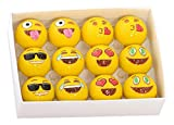 Emoji Universe: 2 Ply Professional Practice Golf Balls, 12 Emoji Balls. Chipping and Putting Golf Balls, Great Accessory Gift for Men, Women – Father's and Mother's Day Holidays and More