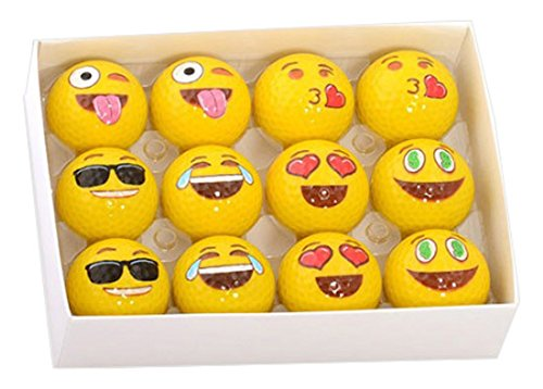 Emoji Unique 2 Ply Professional Practice 12 Golf Ball Gift Box