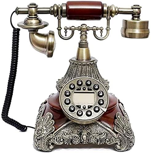 Teléfonos decorativos antiguos Teléfonos Inicio Teléfono Antiguo Teléfono Línea Línea Retro Retro Oficina Tallado Diseño Tallado Manos Línea Retroiluminación Teléfono Teléfono Teléfono Línea Línea