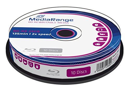 MediaRange MR501 BD-RE Blu-ray Disc (25GB 2 x Speed, wiederbeschreibbar, 10 Stück)