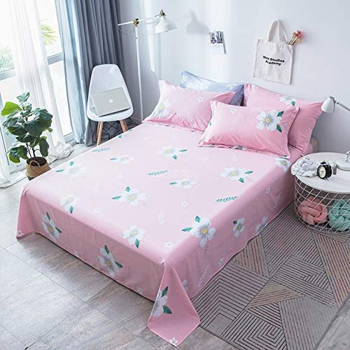 Hllhpc Nordic Gestreepte Flat Sheet 1 Stuk Zacht 100% Katoen Stof Bed Sheet Volwassenen Kids Bedkleding Bed