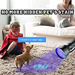 AOLOX Flashlight Black Light 51 LED Torch Light Ultraviolet Detector for Dog Urine Pet Stains and Bed Bug Housebreaking Use with pet odor eliminator 9