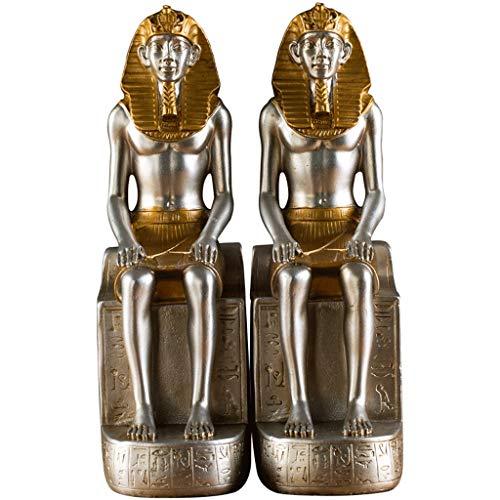 CJH Libro del faraón Egipcio de la Vendimia por la decoración del sujetalibros Libro de simulación de la Oficina en el hogar Decoración de la Biblioteca del Estudio