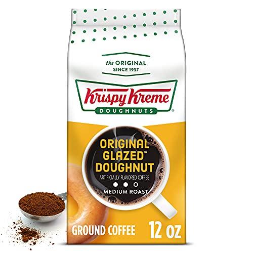 Krispy Kreme Original Glazed Doughnut, Ground Coffee, Flavored Medium Roast, Bagged 12 oz