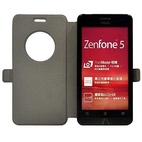 『【ECMAX】 ホワイト ASUS ZenFone 5 A500KL ケース カバー 手帳型 PUレザー素材 自動スリープ スタンド機能付き ECMAX正規代理品』の5枚目の画像