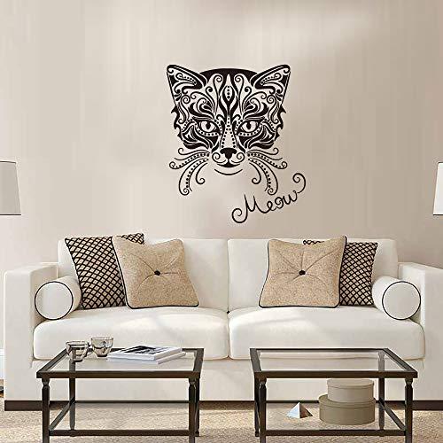 Personalidad creativa moda gato etiqueta de la pared sala de estar dormitorio sofá fondo decorativo etiqueta de la pared 40cmx40cm