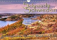 Sehnsucht Schweden - Sverige (Wandkalender 2022 DIN A4 quer): Kleine Essenz Schwedens in Bildern (Monatskalender, 14 Seiten )