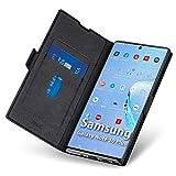 Funda Samsung Galaxy Note 10 Plus,Samsung Note10 Plus Funda,Carcasa Note10 Plus con Cierre Magnético,Tarjetero y Suporte, Cubierta Plegable Cartera,Flip Folio Cover Case,Étui Piel Protección.Negro