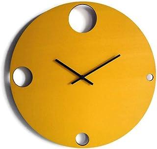 42cm Grande orologio da muro silenzioso per sala colorato come giallo banana Particolari orologi a parete analogici con me...