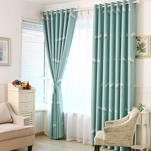 PP&DD Blackout Curtains,Drape Thermal Insulated Sunblind Readymade Curtain,for Bedroom Sitting Room Simple Modern One Slice-N 150x250cm(59x98inch)