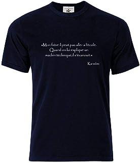 Mygoodprice T-Shirt col Rond Citation Kaamelott Karadoc Un machin Technique